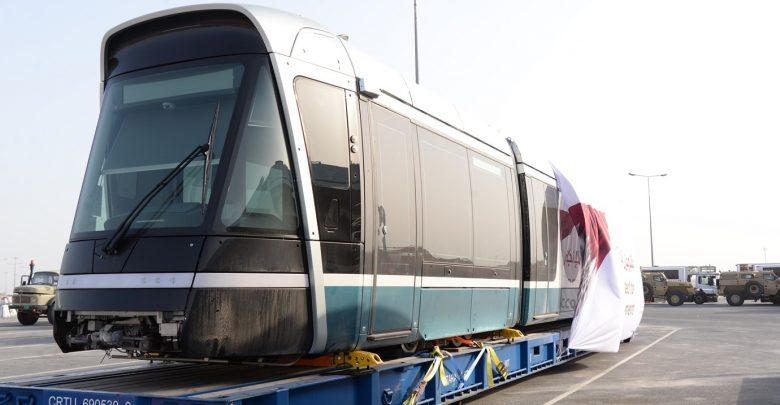 First set of trains for Lusail tramway arrives in Qatar <br/> وصول القطار الأول من قطارات ترام لوسيل
