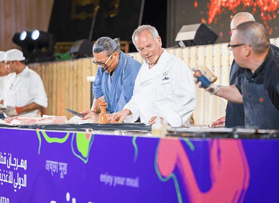 QIFF offers food experiences from across the world <br/> أشهر طهاة العالم يواصلون إبداعهم بمهرجان قطر الدولي للأغذية