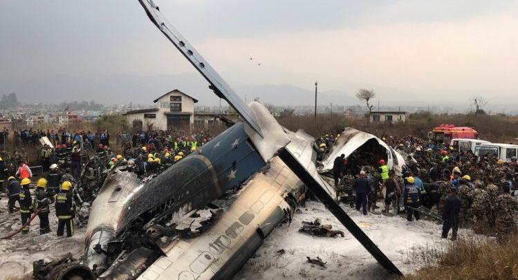 Bangladeshi passenger plane with 67 passengers crashes in Nepal <br/> تحطم طائرة ركاب من بنغلاديش أثناء هبوطها في نيبال وإنقاذ 17 شخصا