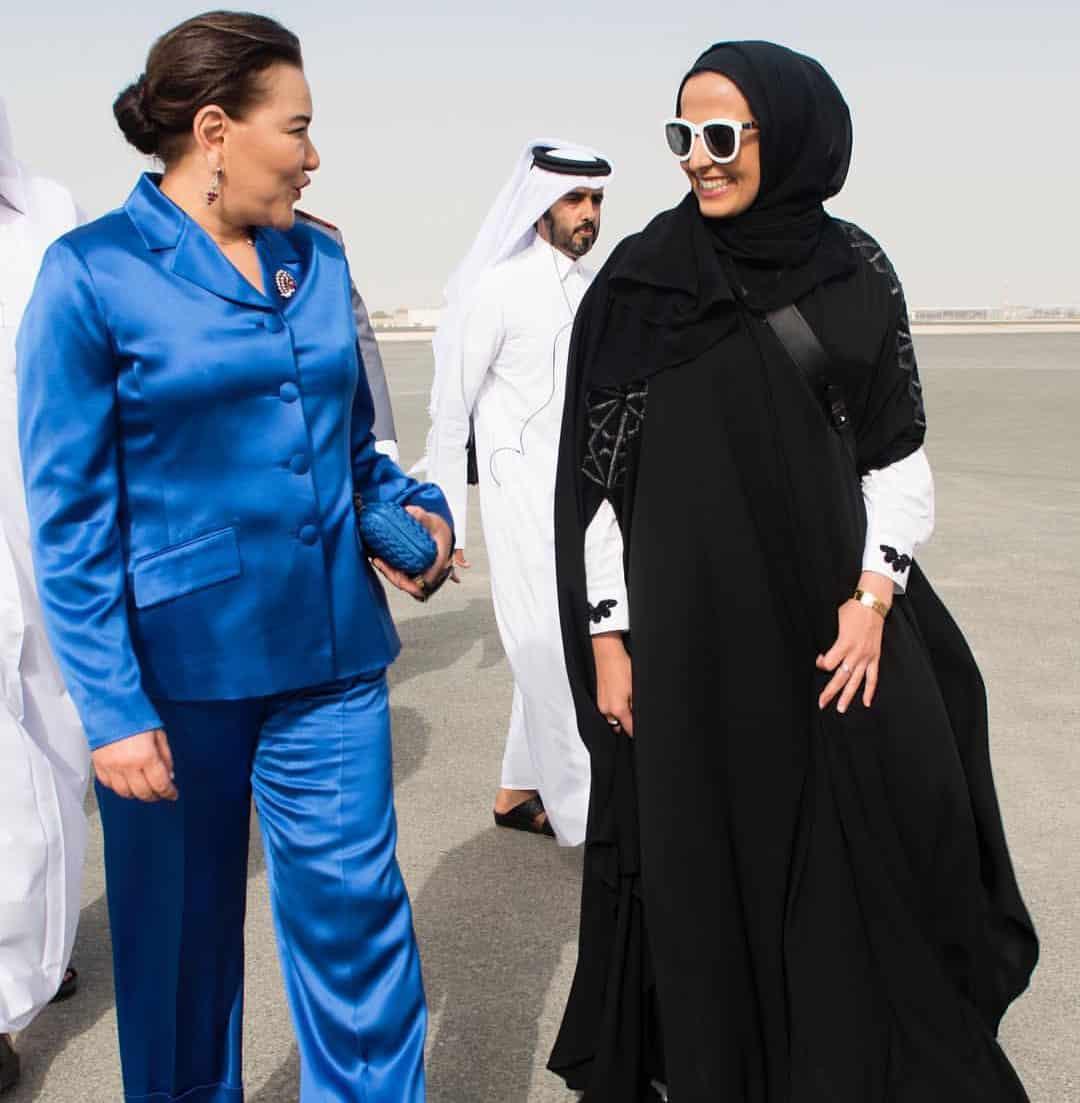 Sheikha Al Mayassa welcomes Princess Lalla Hasna of Morocco