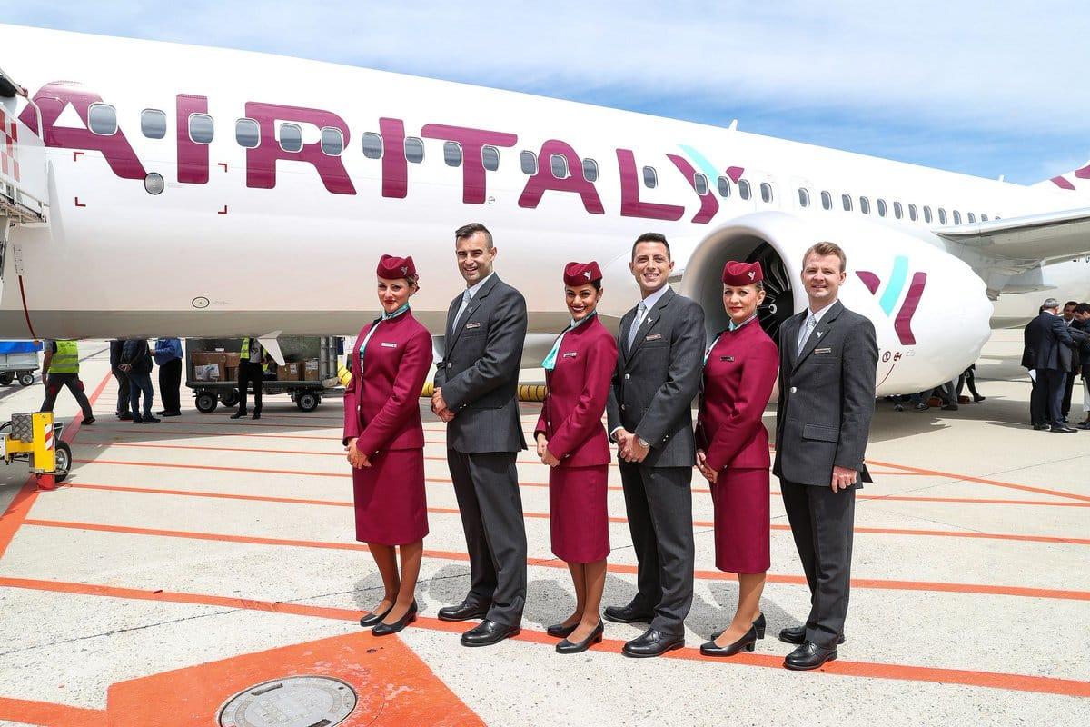 Air Italy's Boeing B737 Max touches down at Milan-Malpensa Airport