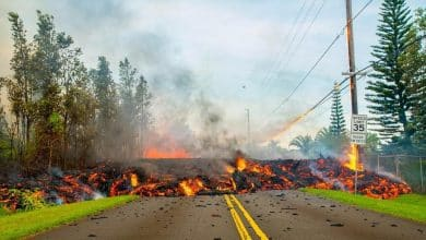 Image result for images of kilauea volcano destruction
