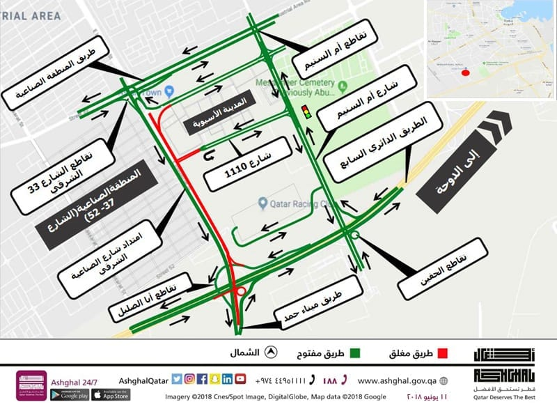 Ashghal Starts on East Industrial Street Extension Upgrade Project