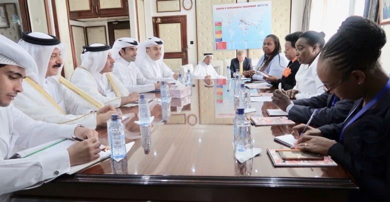 Minister meets Kenya's top official