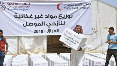 QRCS, QFFD deliver non-food aid to Iraq's displaced people