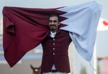 Qatar wins silver medal in equestrian jumping event