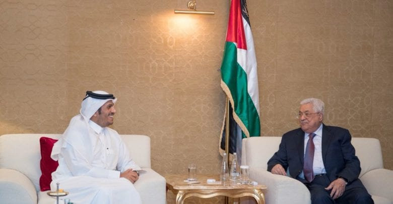Palestinian president meets foreign minister