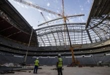 Roof installation brings Al Bayt Stadium's design to life