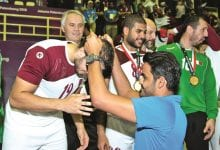 In sporting gesture, Qatar players console Bahrainis