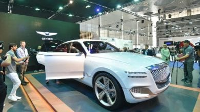 Skyline Automotive reveals its electric luxury SUV Concept, GV80, to the public at the Qatar Motor Show 2018