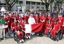 Qatari flag hoisted at Olympic Village in Jakarta